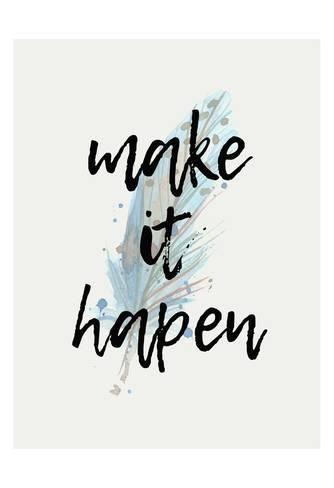 Art Print: Make it Happen by Kimberly Allen : 19x13in