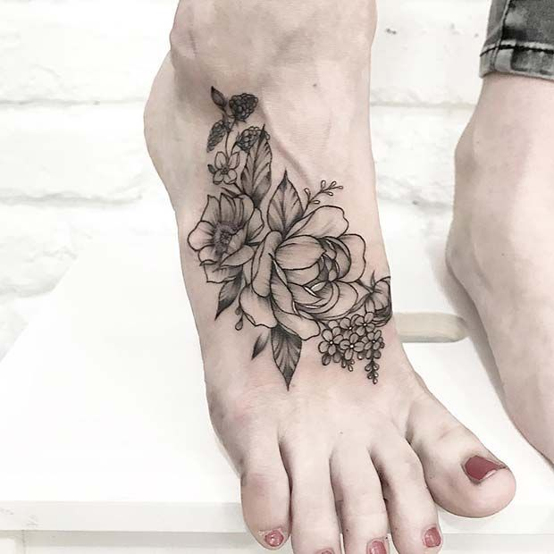 45 Awesome Foot Tattoos for Women | Page 4 of 4 | StayGlam