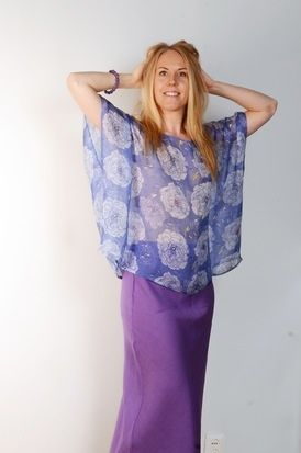 Lazy Lizard's Leela silk top