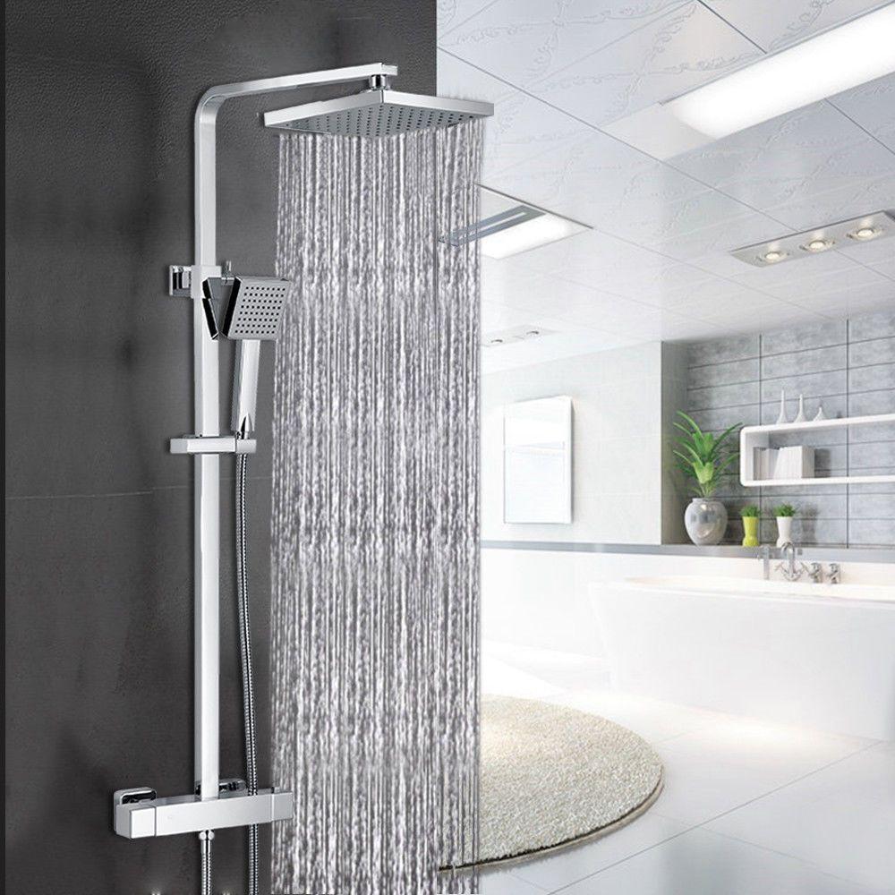 Badezimmer design 2 x 2 meter besonderheit  thermostat duscharmatur dusche mit thermostat