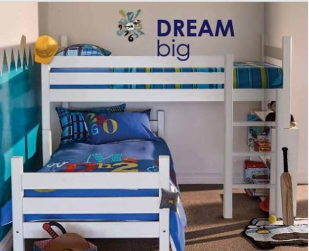 Cool Space Saving L Shaped Twin Bunk Beds For 3 Persons