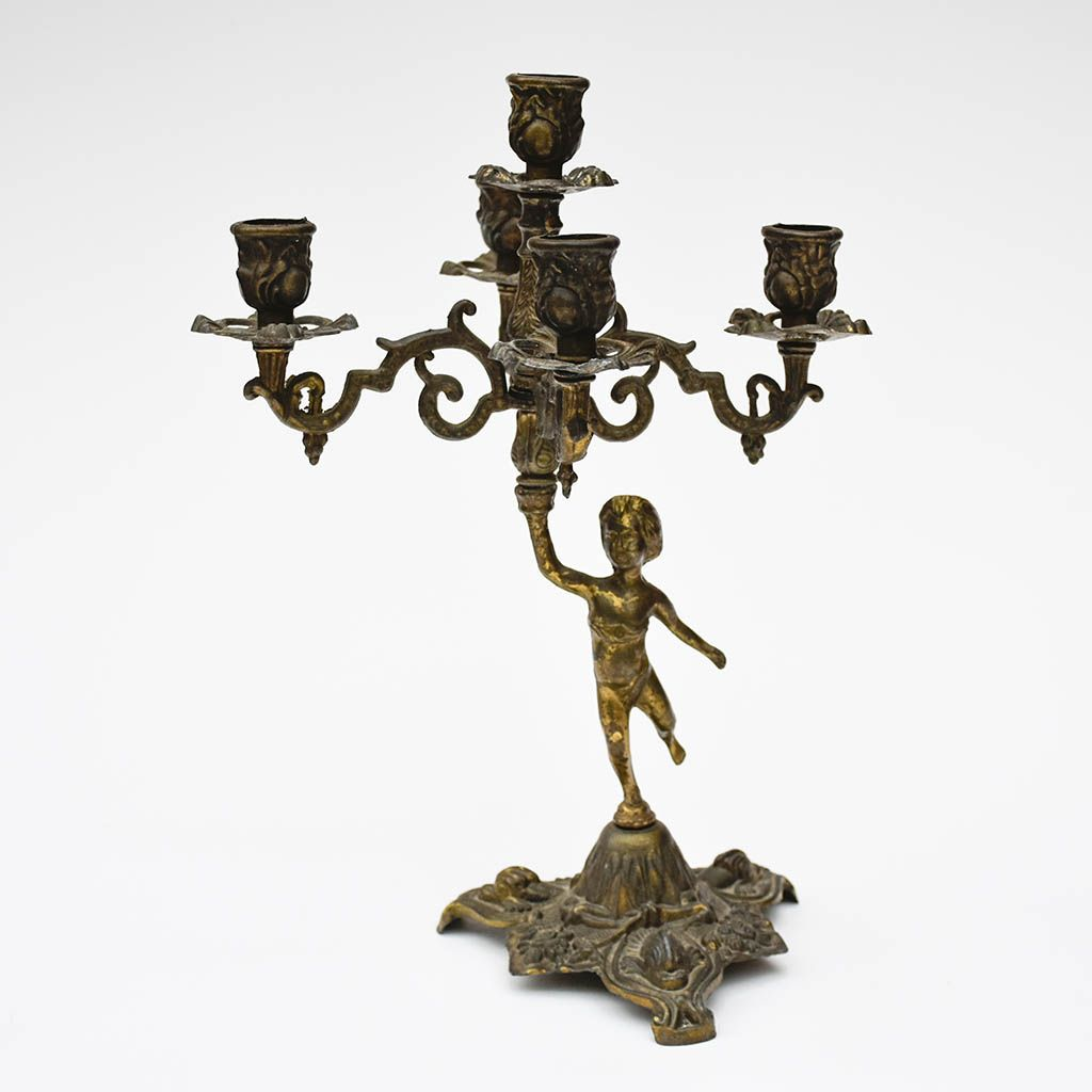 Chandelier bougeoirs ange
