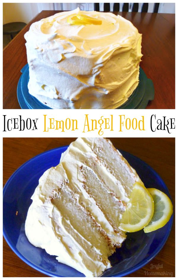 Icebox Lemon Angel Food Cake Recipe Lemon Angel Food Cake