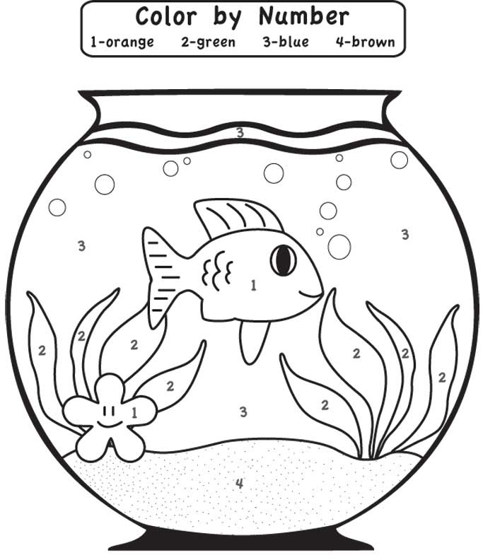 Easy Color By Number For Preschool And Kindergarten In 2021 Kindergarten Coloring Pages Numbers For Kids Kindergarten Colors