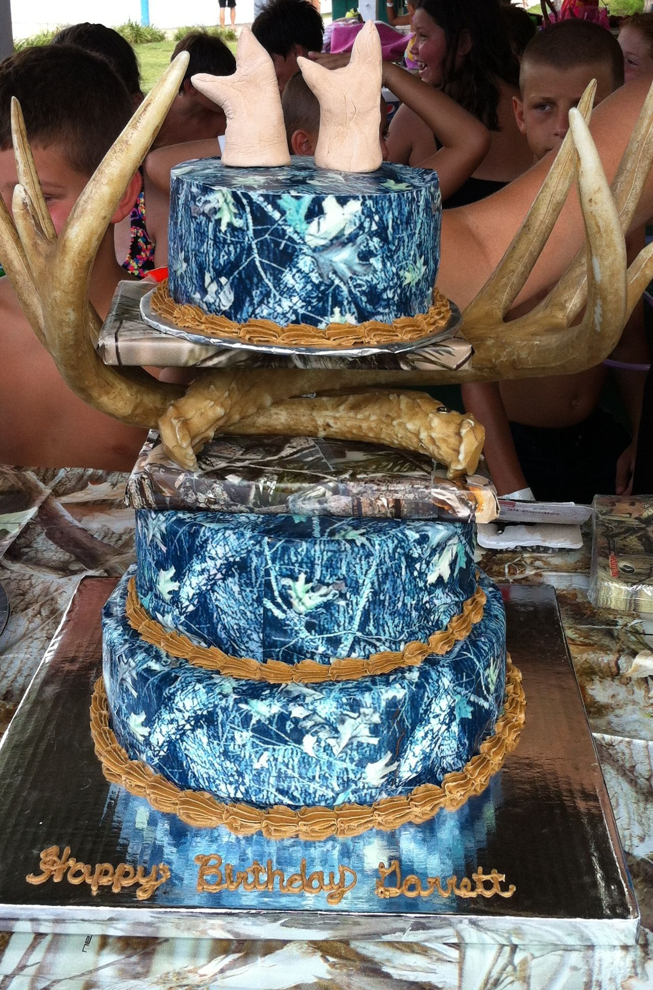 Blue Camo Wedding Cakes