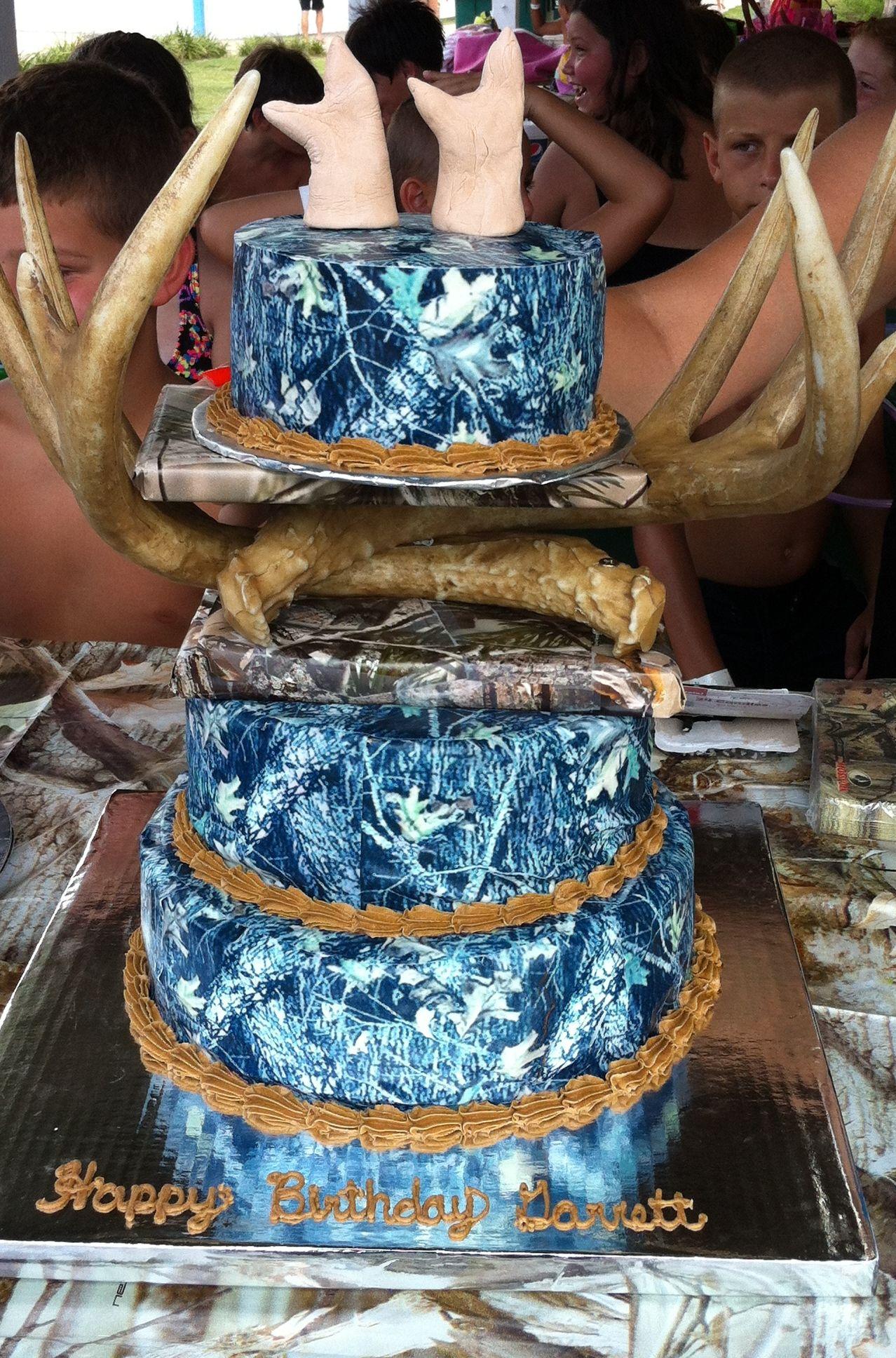 Camo Cake almost blue Yeah Buddy Pinterest