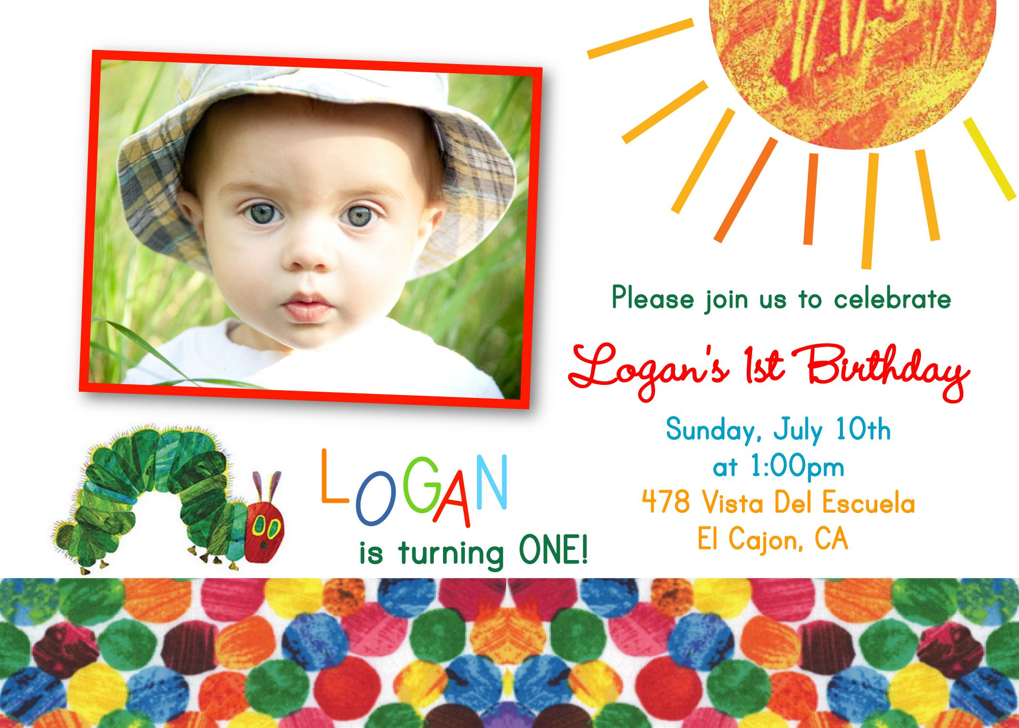 Very Hungry Caterpillar Invitations. By Silly Seira Design on Artfire @Christy Ottmers Arnold