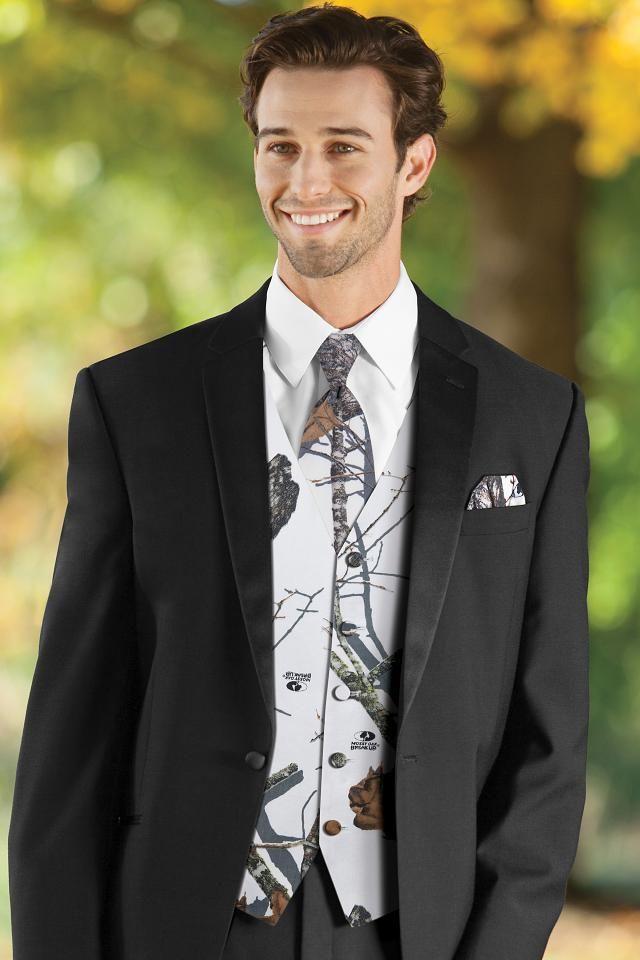 Mossy Oak White Camouflage Vest   Jim\'s Formal Wear   Jim ...