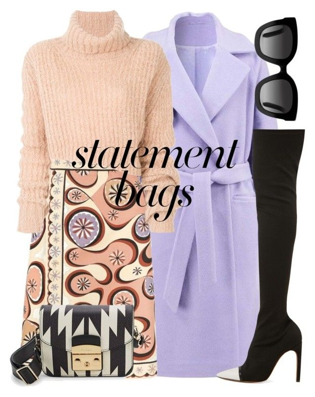 """""""n.t."""" by steffilovesyou88 ❤ liked on Polyvore featuring 2nd Day, Emilio Pucci, Ann Demeulemeester, Givenchy, Gucci, Furla and statementbags"""