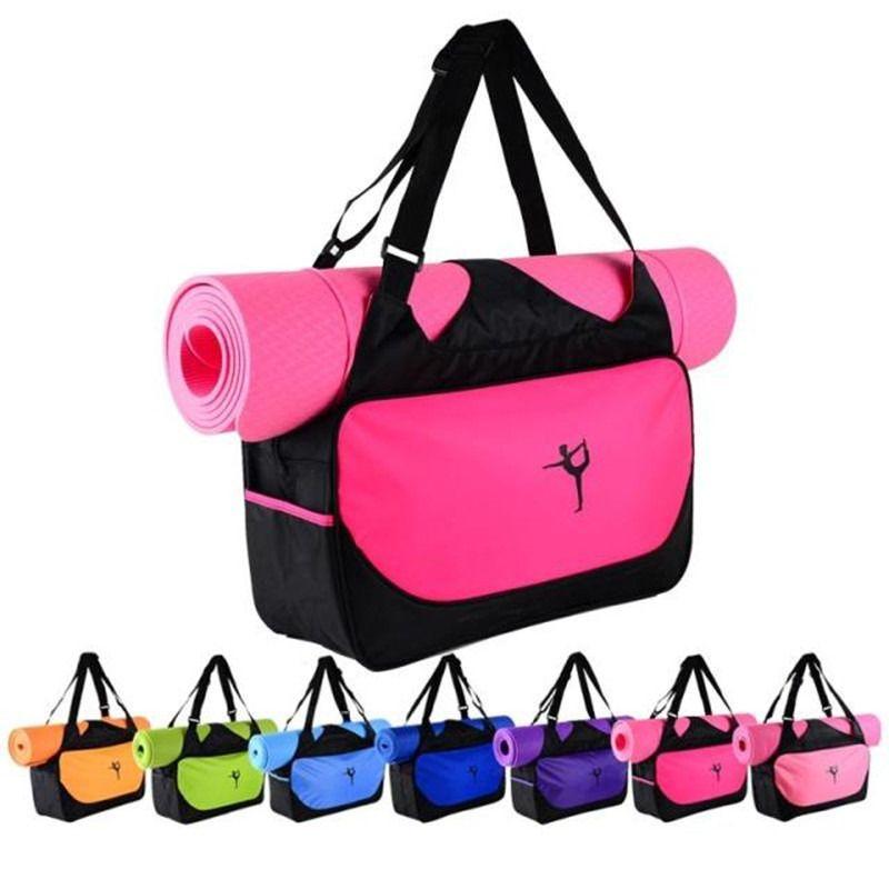 Security & Protection Waterproof Yoga Mat Carriers Pilates Mat Case Shoulder Bag Oxford Cloth Backpack Yoga Mat Bag Lightweight Gym Fitness Bag