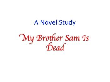 My brother sam is dead novel study 4th and 5th pinterest my brother sam is dead novel study fandeluxe Choice Image