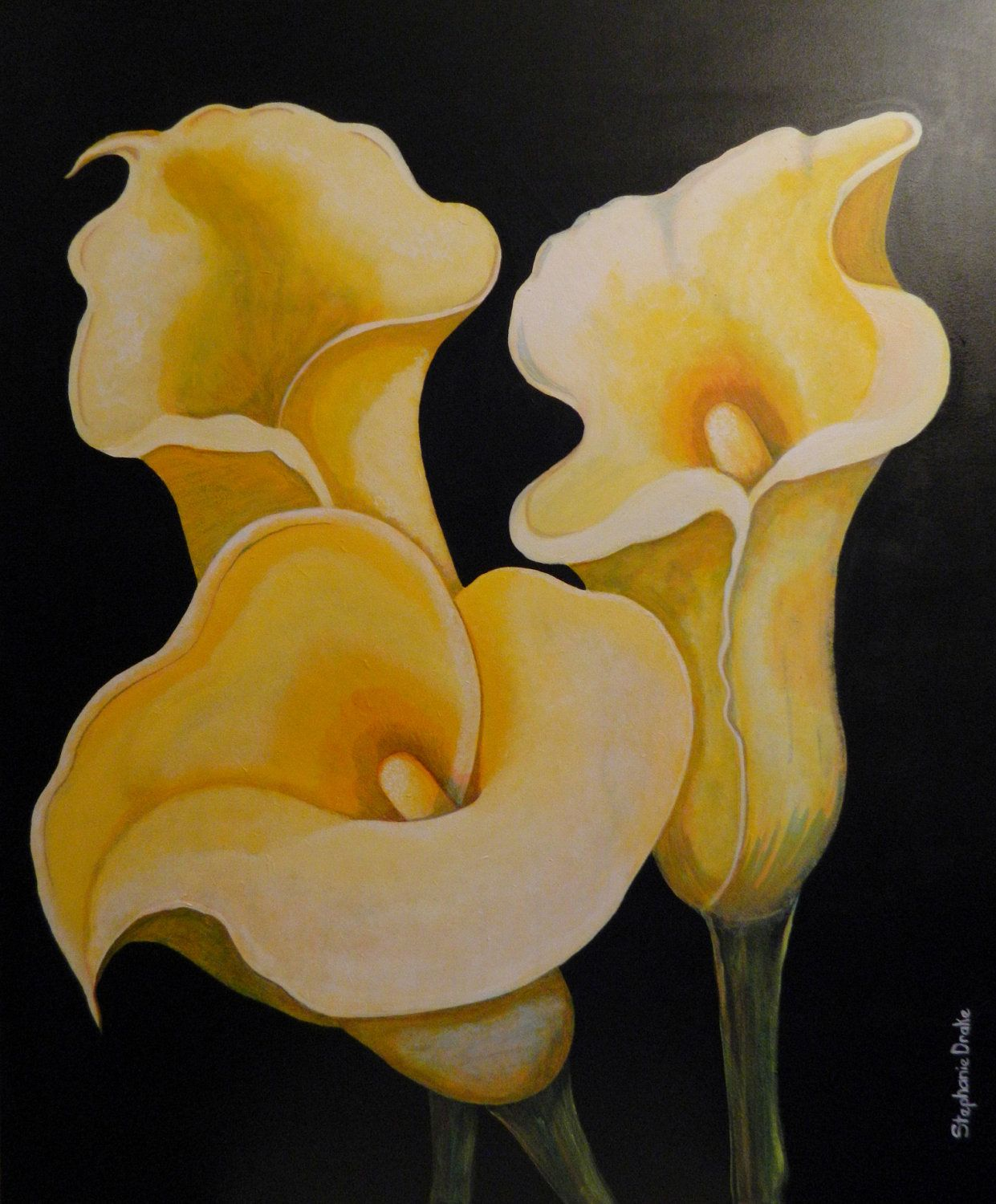 Yellow calla lily paintings my style pinterest lily painting yellow calla lily paintings dhlflorist Images