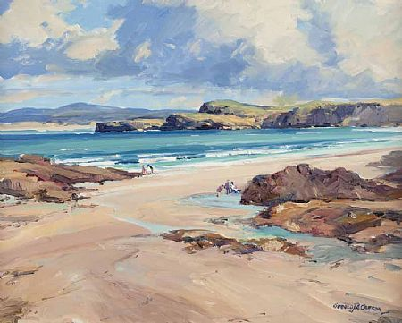 Marble Hill Donegal Gerald J A Carson Coastal Landscape Water Painting Marble Hill