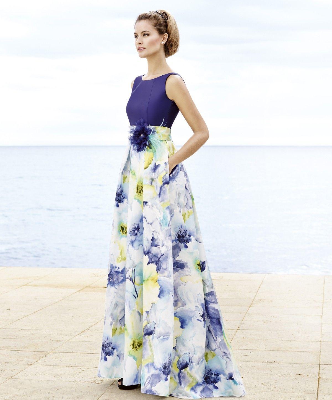 vestido-de-fiesta-largo-estampado-floral-difuminado.jpg (1200×1449 ...