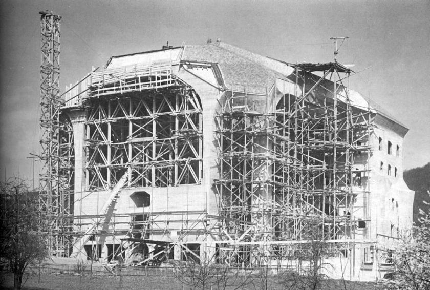 Second Goetheanum under construction - Rudolf Steiner