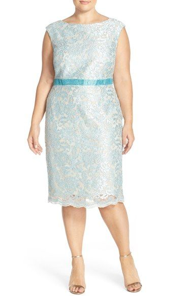 Brianna Embellished Embroidered Lace Sheath Dress (Plus Size) available at #Nordstrom