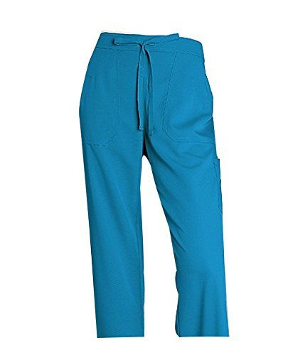 Greys AnatomyTM Womens 4Pocket Elastic Back Solid Scrub Pant Medium Tall Capri *** Read more  at the image link. (Note:Amazon affiliate link)