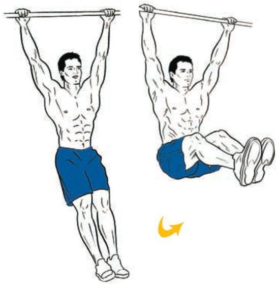 Hanging Leg Raises | Exercise | Pinterest | Hanging leg ...