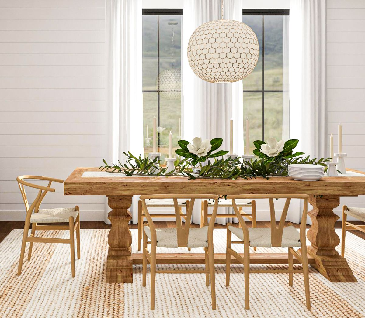 5 Dining Room Design Ideas That Are Ready For Spring In 2020 Mid Century Dining Chair Wood Dining Room Design Tressel Dining Table