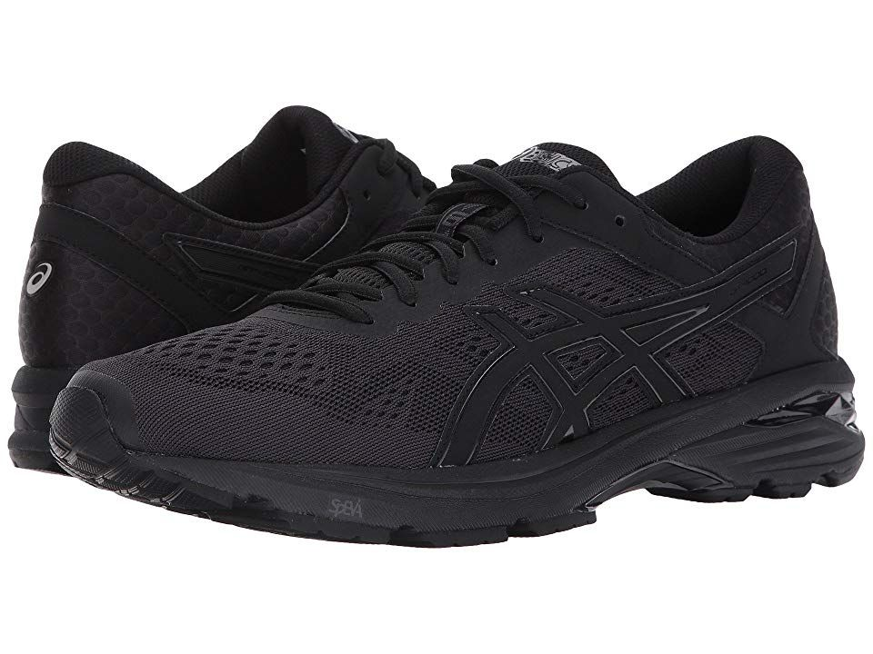 sports shoes 85f26 9172c ASICS GT-1000 6 (Black/Black/Silver) Men's Running Shoes ...