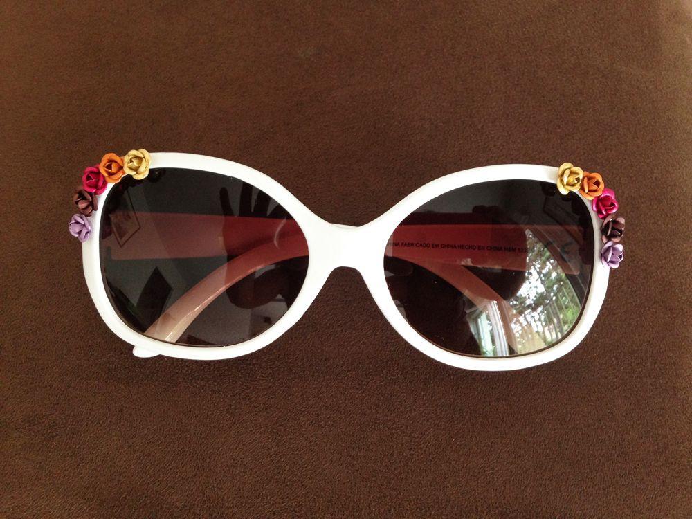 diy customise tes lunettes de soleil blanches de chez h. Black Bedroom Furniture Sets. Home Design Ideas
