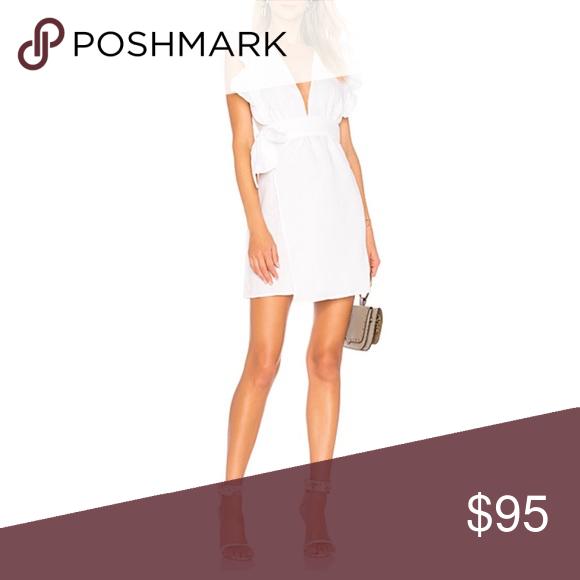 971164e1664 Donna Mizani Maya mini dress White linen wrap dress