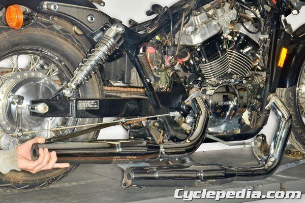 Online Motorcycle Repair Manuals Cyclepedia Repair Library Honda Shadow Motorcycle Repair Shadow