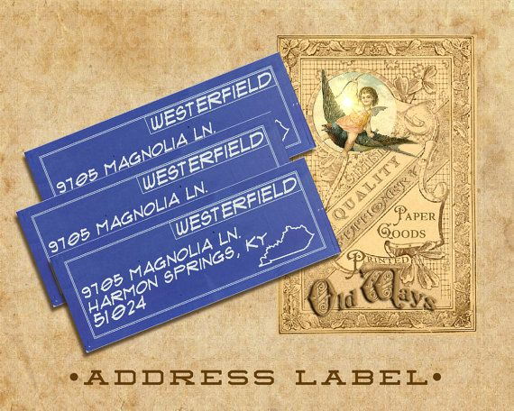 blueprint vintage return address labels architect engineer contractor 3 x 1 inch sticker