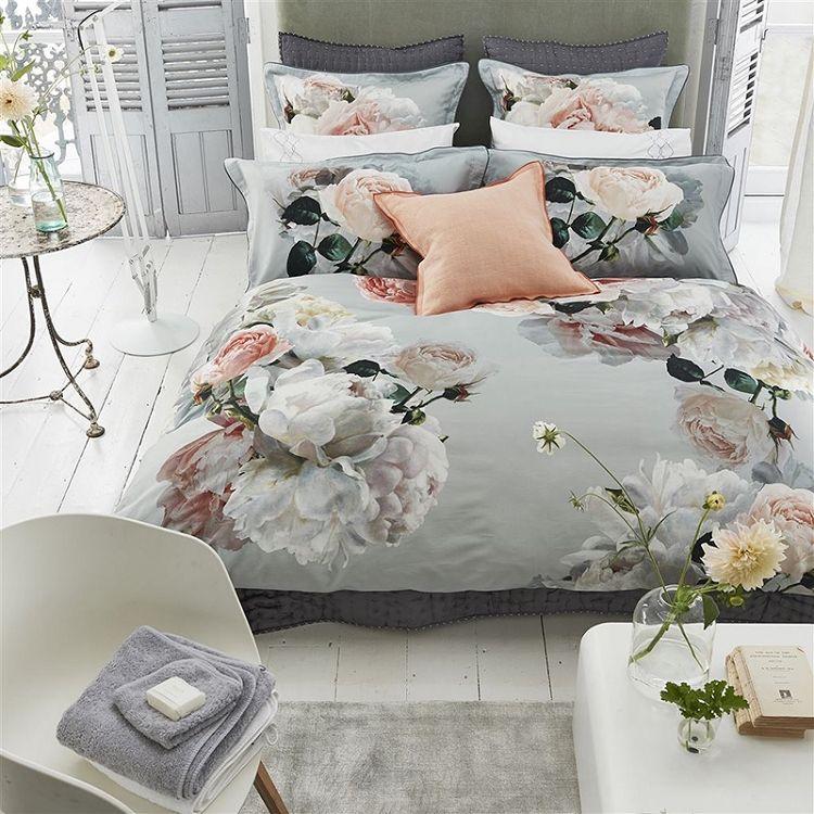 Designers Guild Peonia Grande Zinc Duvet Cover Bed Linen Design Bed Cover Design Bed