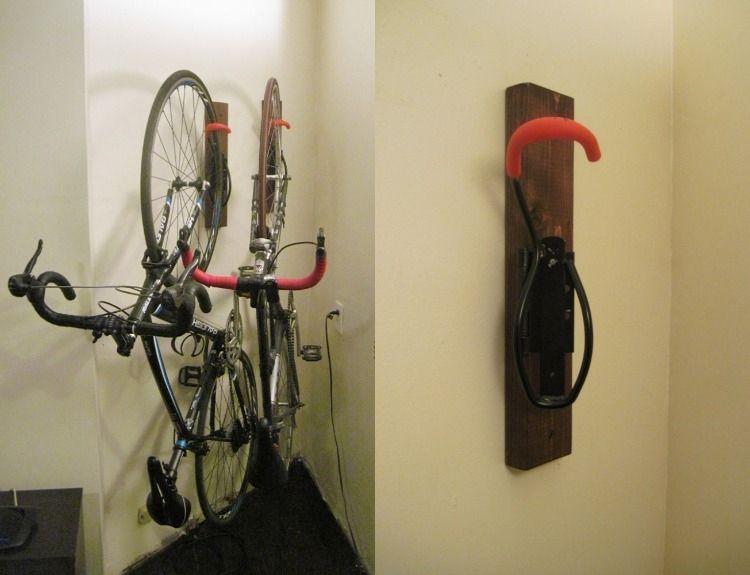 fahrradhalterung wand selber bauen anleitung haken montage holz