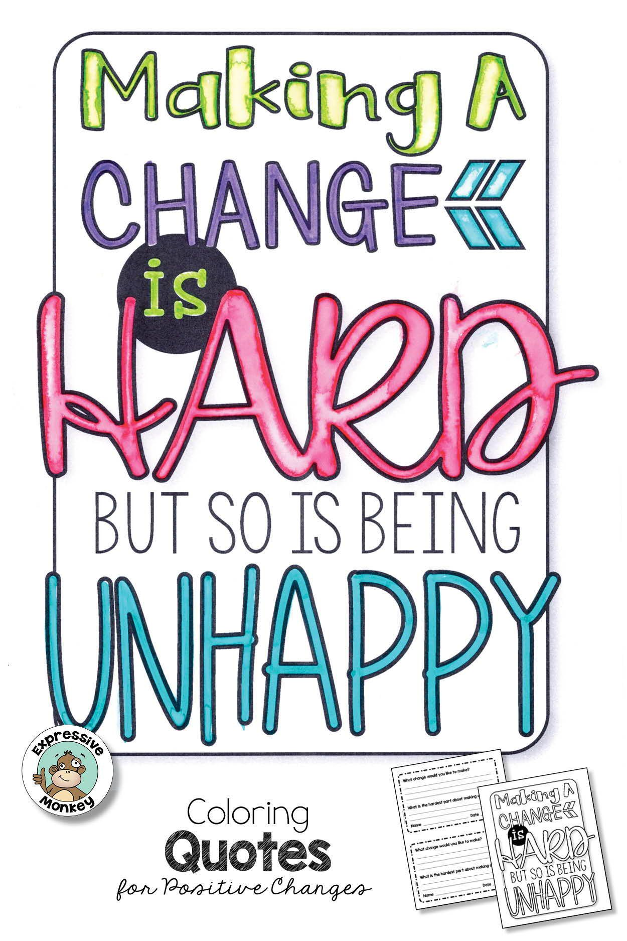 Quote Coloring Pages & Writing Activity | Quote coloring ...