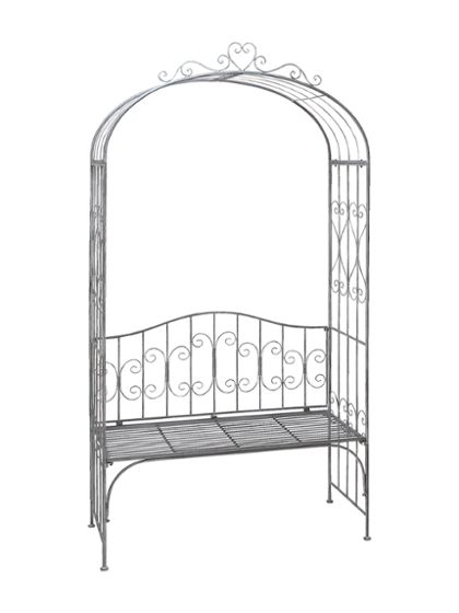 UMA   Metal Garden Arch With Bench