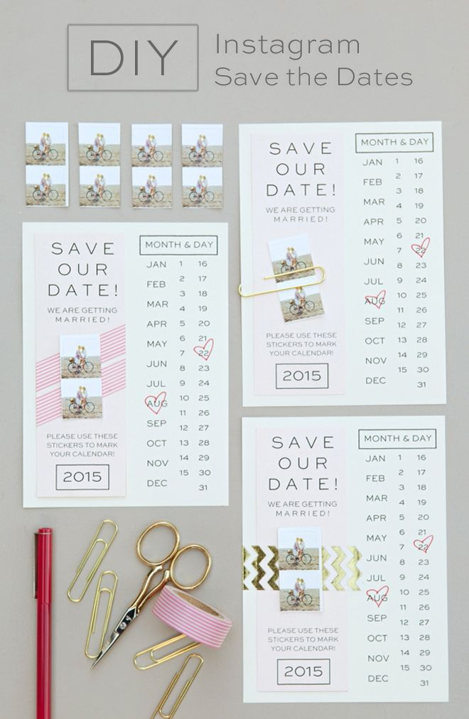 16 Of The Best Free Wedding Printables For Your DIY Diy Save DatesSave