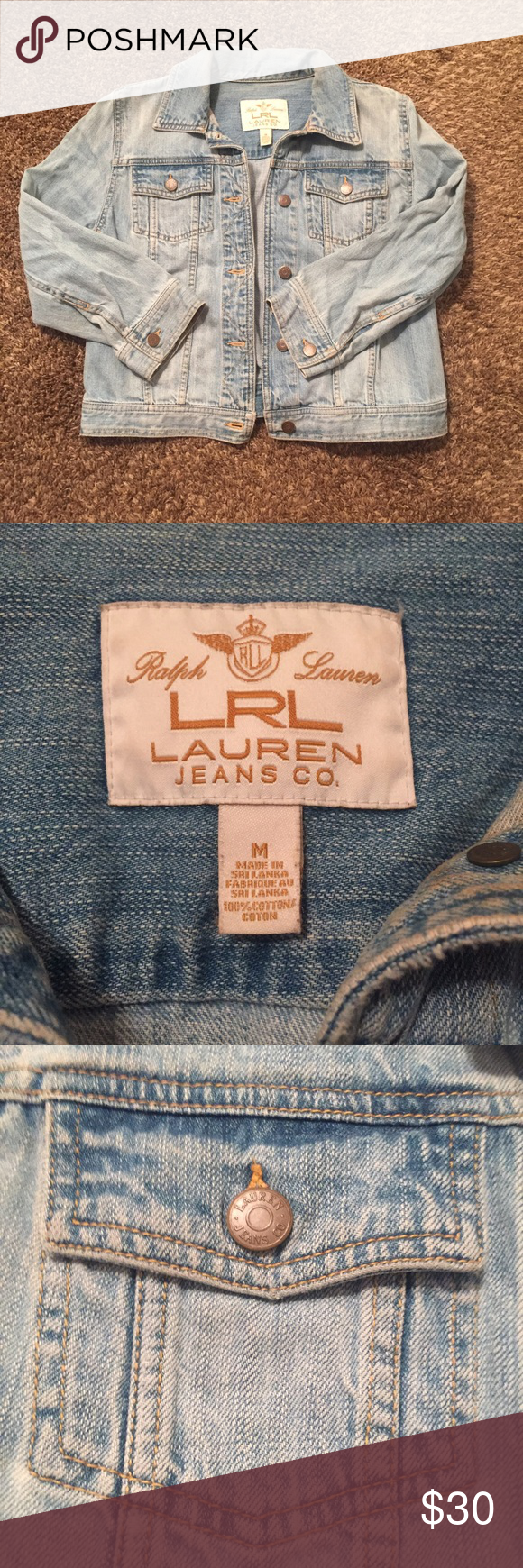 Jean Jacket Great light wash jean jacket! In perfect condition and only worn a few times! Offers welcome. Lauren Ralph Lauren Jackets & Coats Jean Jackets
