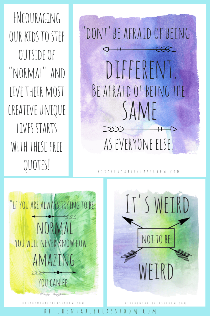 Being Different Quotes Quotes About Being Unique Living Your Best Life The Kitchen Table Classroom Unique Quotes Unique Quotes About Life Encouragement Quotes
