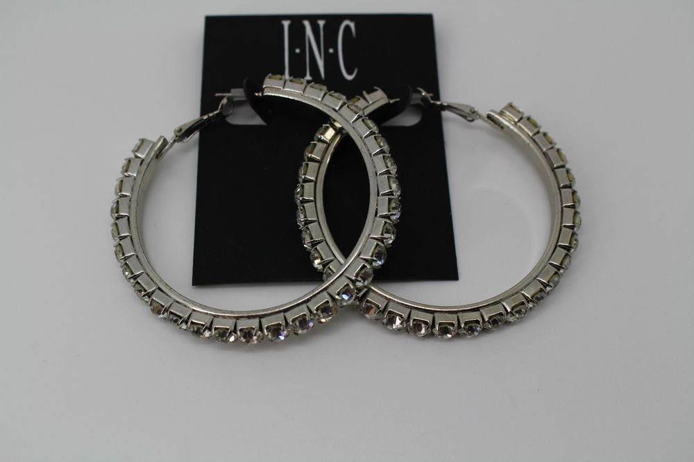 back hoop wj jewelry earrings az bling round snap flat silver sterling