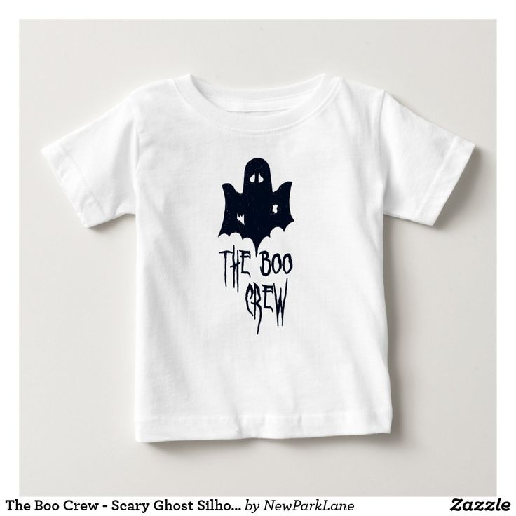 Scary Ghost Silhouette Halloween Baby T
