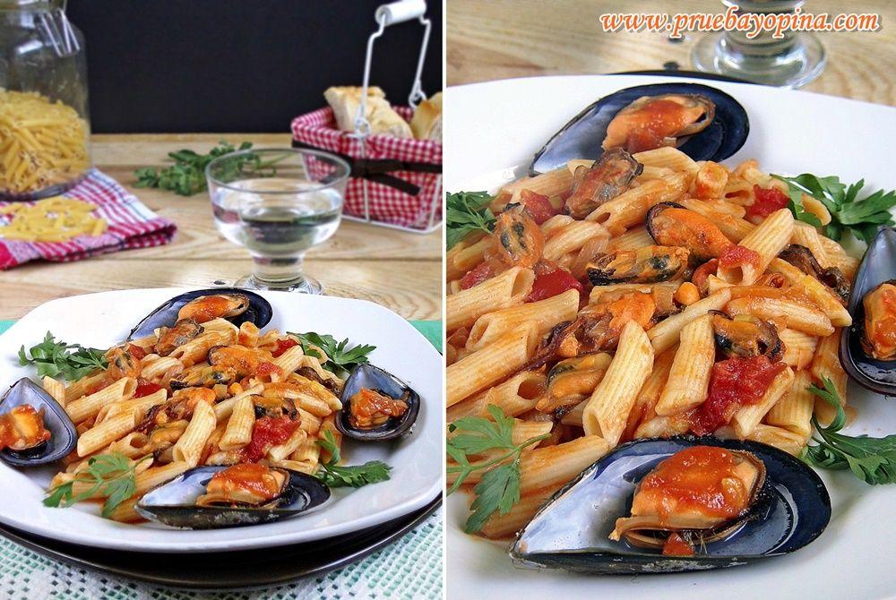 macarrones con mejillones receta (1)
