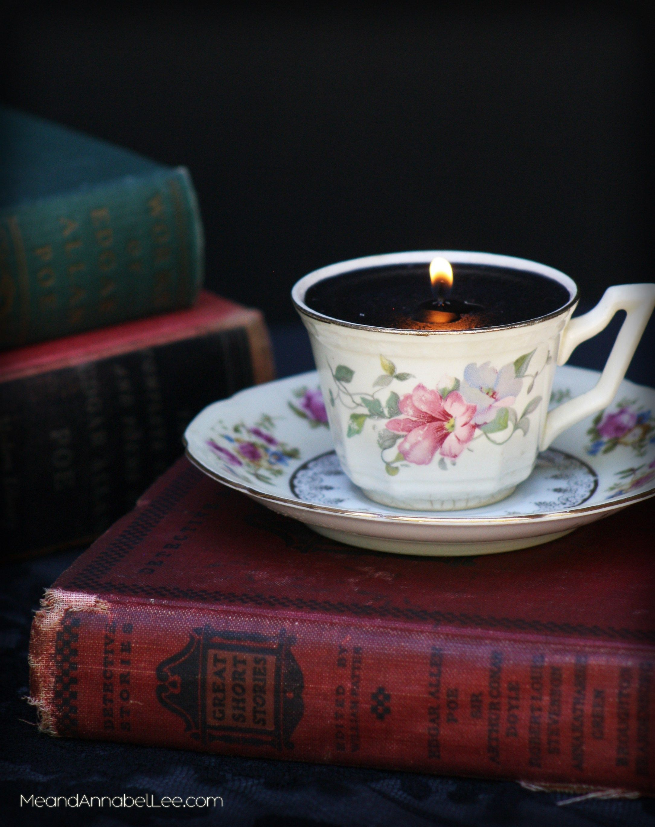 Diy Victorian Gothic Black Tea Cup Candles Goth It Yourself Candlemaking How To Make