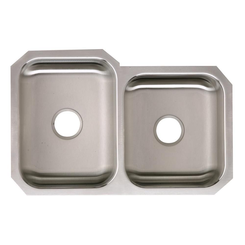 Elkay Signature Plus Undermount Stainless Steel Silver 32 In