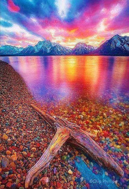 Jakson Lake in Grand Teton National Park Wyoming USA