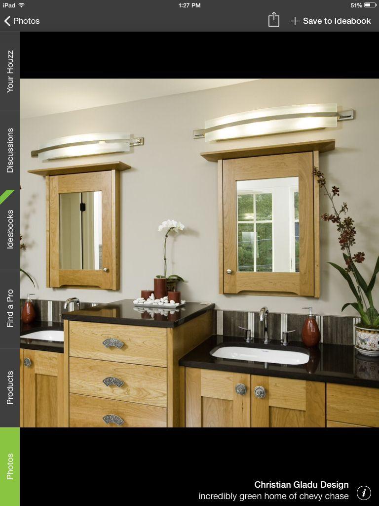 Lighting over medicine cabinet. | Eclectic bathroom, Best ...