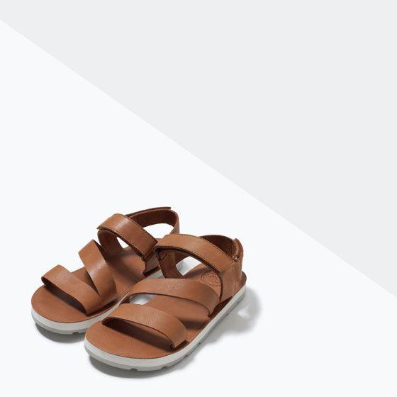 SANDALIA PIEL TIRAS-Zapatos-Niño-NIÑOS-REBAJAS | ZARA España
