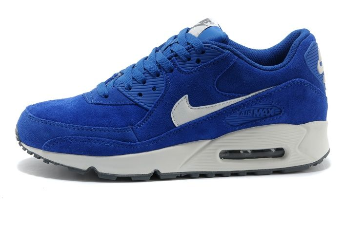 sports shoes 47719 d2190 Tanie Nike Air Max 90 Niebieski Białe Futro Wyprzedaż Męskie Buty Online -  tanietrampkionline.com
