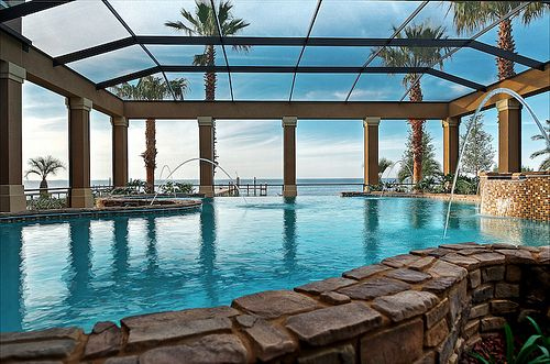 HDR - Pool and Bayview from Destin Florida Home by Michael James - Digital Coast Image,