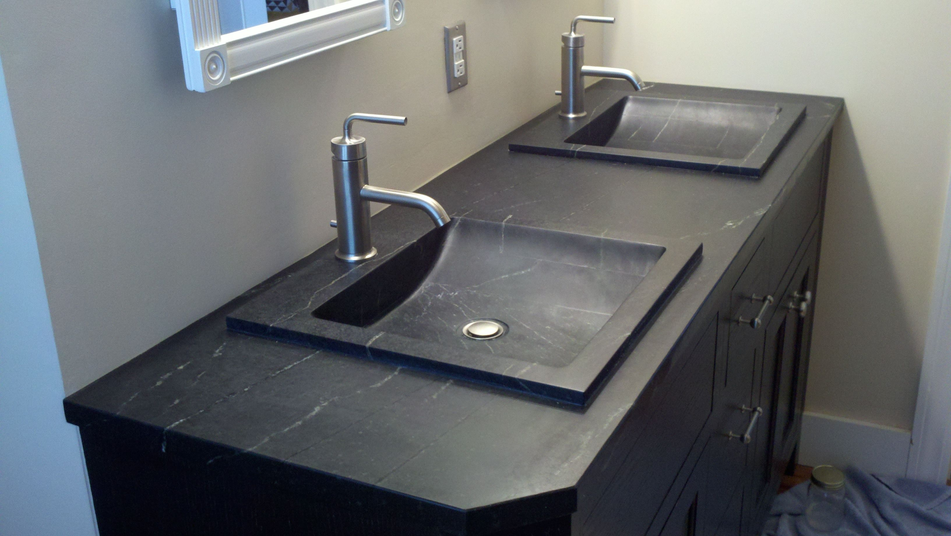 Slip Into Something More Comfortable With A Soapstone Bathroom