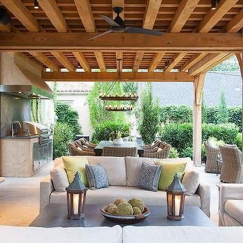 Covered Patio Living Space Transitional Deck Patio Outdoor