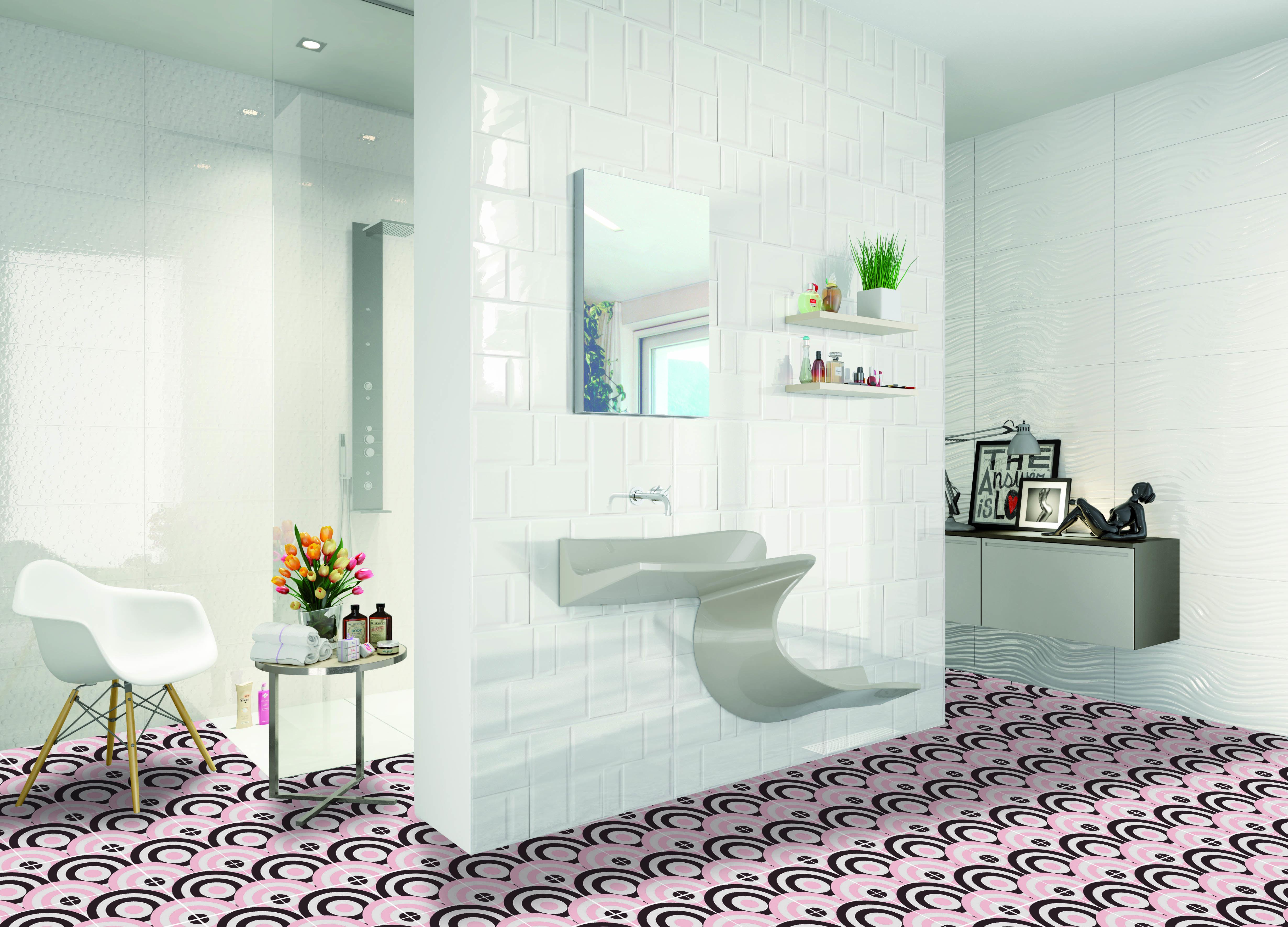 Salle De Bain Motif salle de bain motif tendance : m1832 format 20 x 20 cm