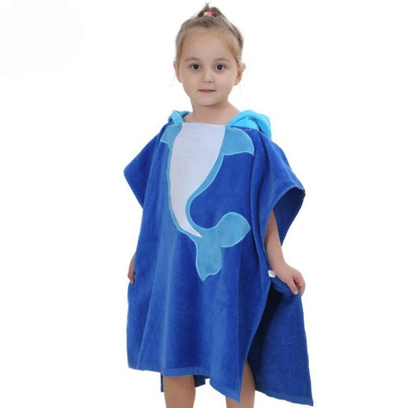 e691ecaf6c Cute Dolphin Velvet Animals Bathrobe Sleepwear Kids Girls Clothes Baby  Blanket Boy Sleepers Poncho Hooded Towel Infant Clothing