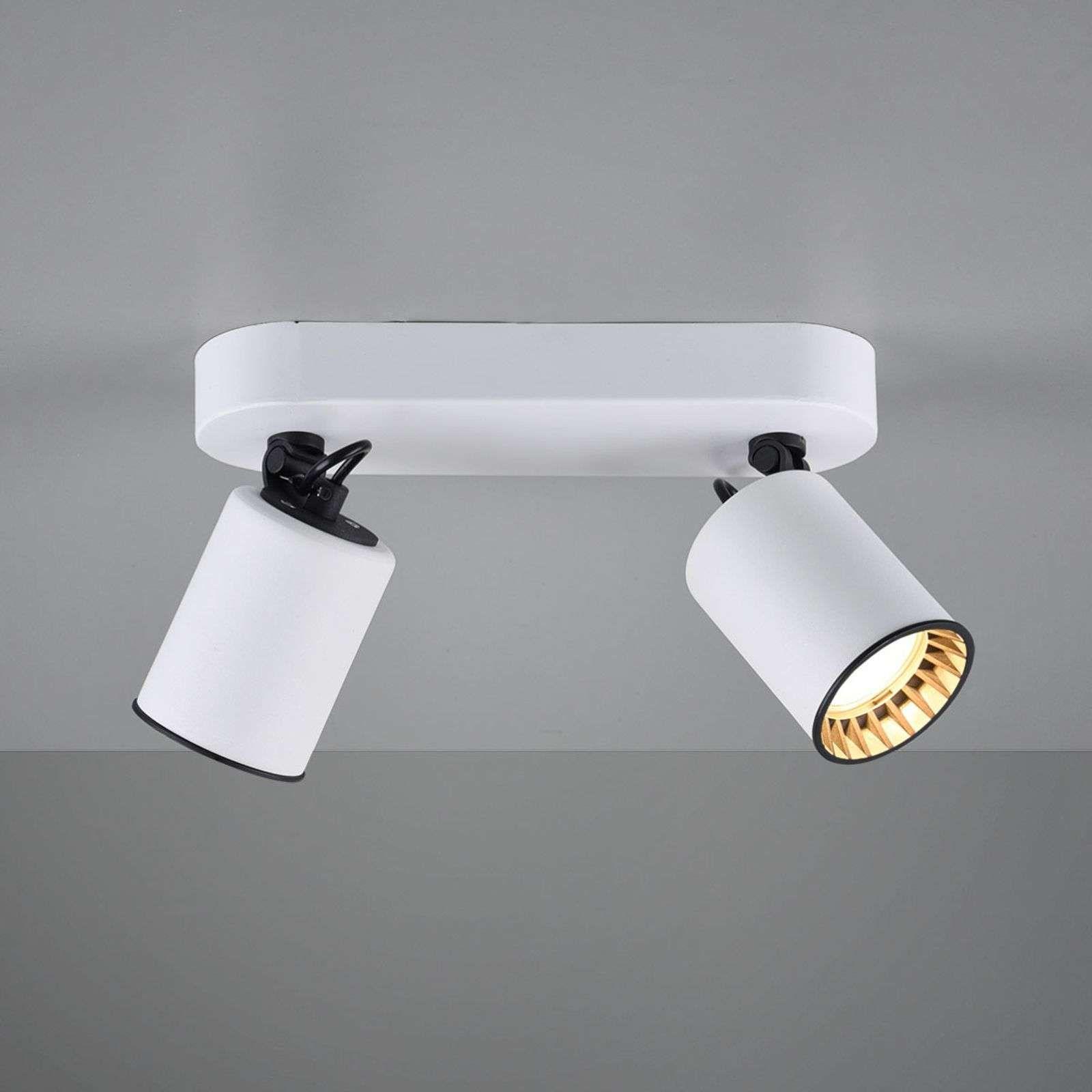 Spot Pour Plafond Pago A 2 Lampes Blanc De Trio Lighting En 2020 Spot Plafond Lamp Plafond